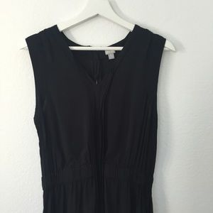 Converse one star V Neck Dress Black Exposed Zip